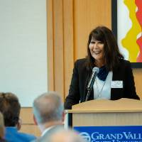President Philomena V. Mantella speaking at the Foundation Annual Meeting